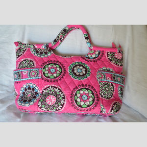 Gabby Style Satchel in Cupcakes Pink EUC!